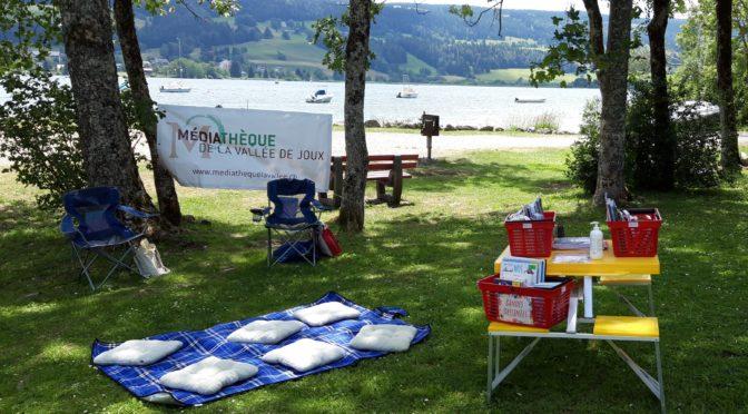 Biblio'lac : la bibliothèque prend l'air au bord du lac
